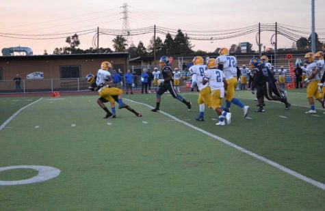 Pinole Valley Football Players In Action