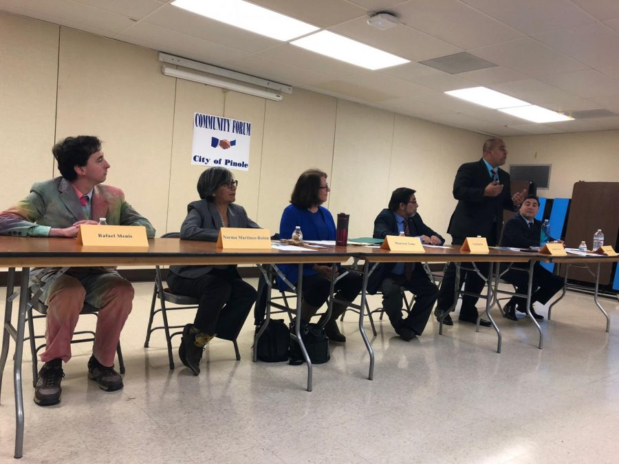 Pinole City Council Candidate Forum held right here at Pinole Valley High School.