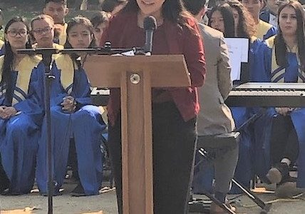 Annett Tamayo Honors Veterans With A Speech at Fernandez Park