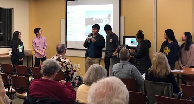 Interact Club members present at the Pinole Historical Society meeting.