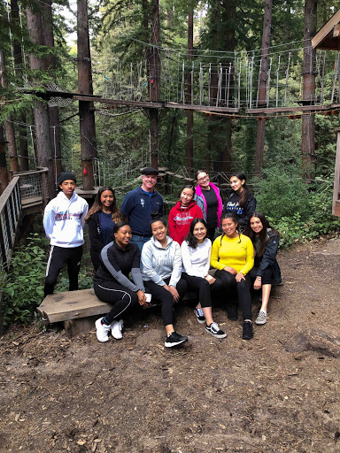 Some of the Health Academy junior crew: (front L-R) Michaela Rose, Angel Rivera, Laila Hanan, Marissa Bonilla, and Hope Bonillas. (Rear) Kai Miles, Maliyah-Denay Hart, Health Academy instructor Dan O'Shea, Michelle Hong, and Janelle Smith.