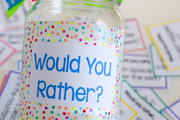 A+colorful+Do+It+Yourself+jar+for+%22Would+you+rather...%3F%22+questions.