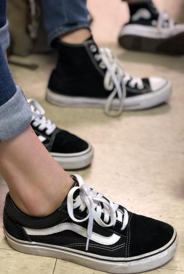 Black and white shoes but in a different style, cuffs on jeans or capris are a way of expressing individuality through clothing.
