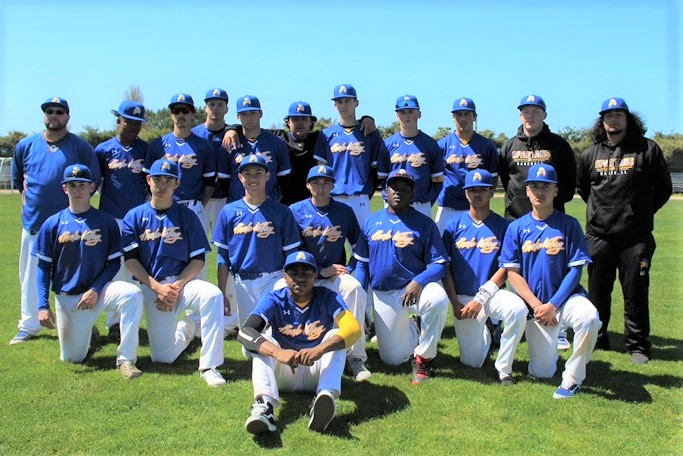 The Pinole Valley High School Varsity baseball team -- league champions!