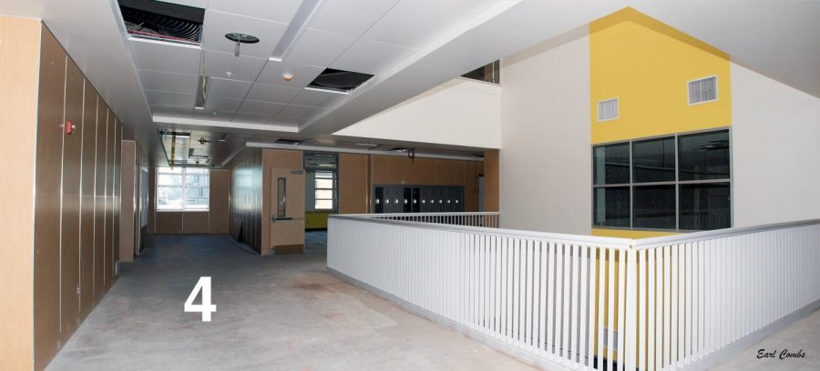 The second-floor hallway. This is the future home of the Law and Justice Academy!