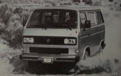 Driving a VW Vanagon
