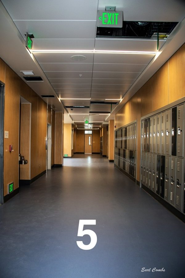 Hallway on the third floor of the classroom building.