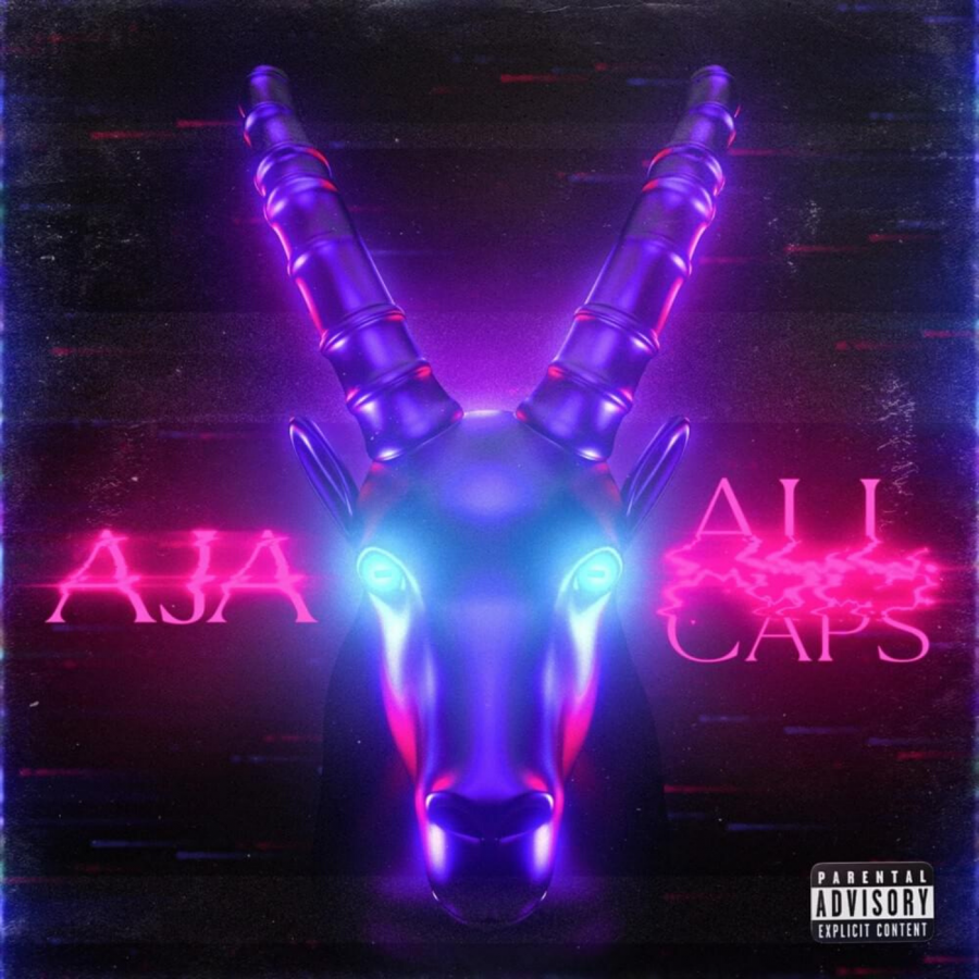 The cover of AJA's second extended play, ALL Caps.