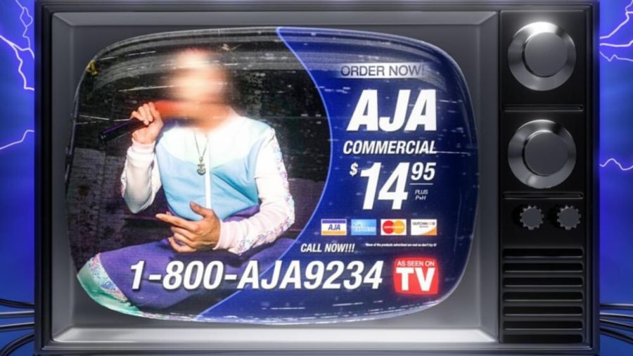 "AJA as they appear on the single cover for ""Commercial""."