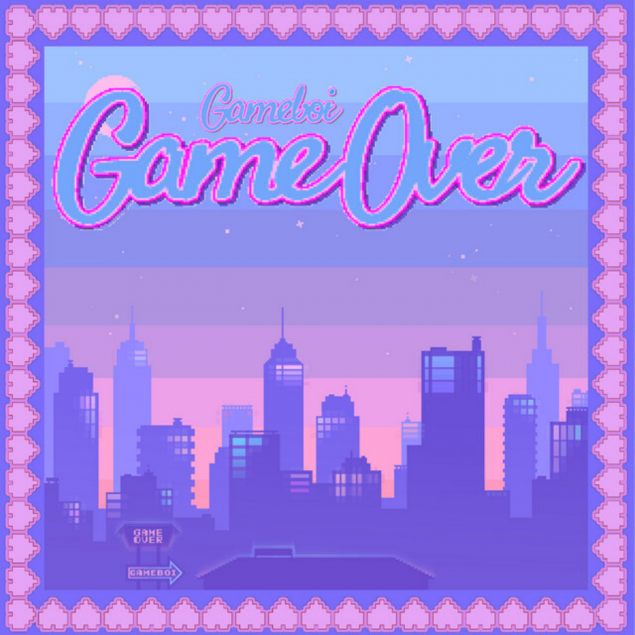 The cover of Gameboi's debut extended play, 'Game Over'.