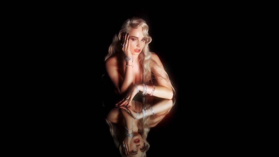 "Petras in the music video for ""Icy""."