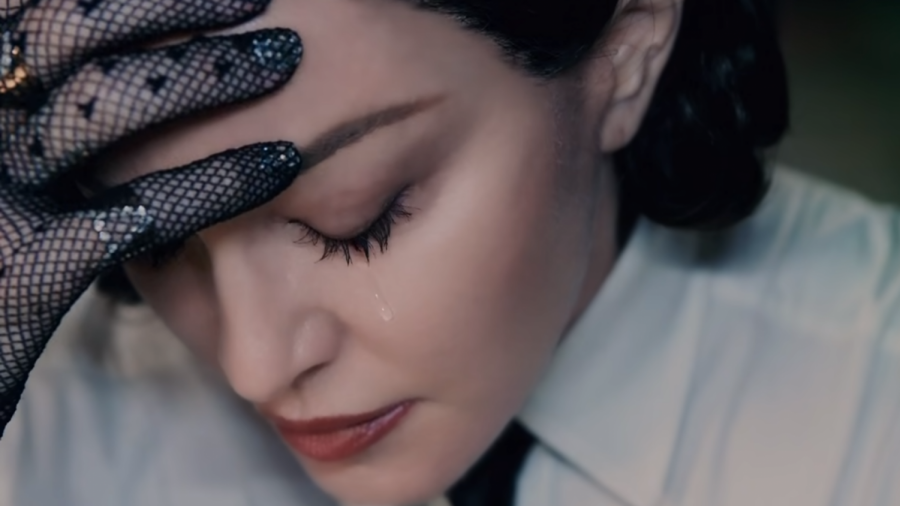 """Madonna as Madame X in the music video for """"God Control""""."""