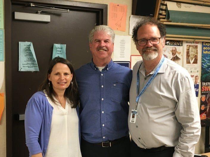 Principal Kibby Kleiman--right
