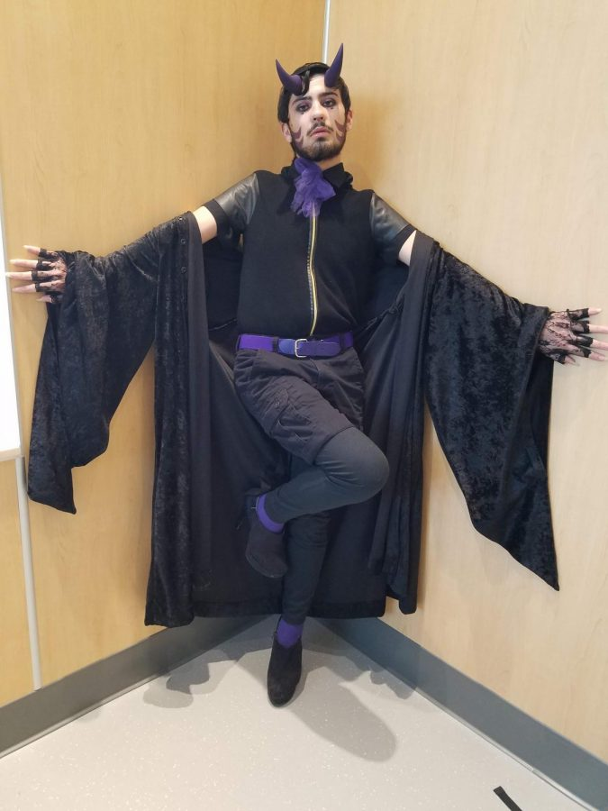Mason Montano (20) cosplaying as an original character of theirs.