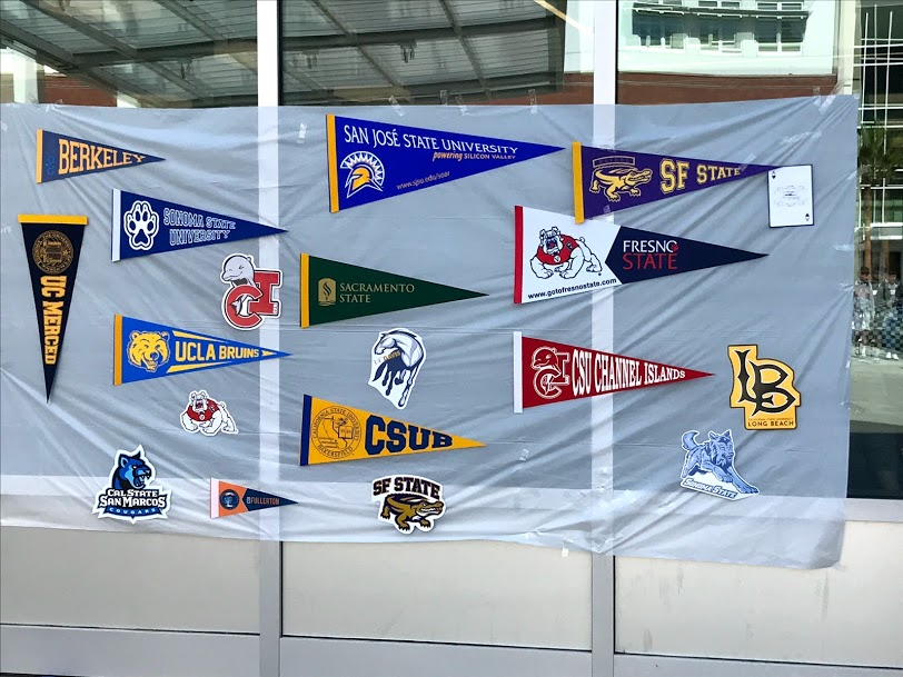 Do you recognize all the colleges in this background?