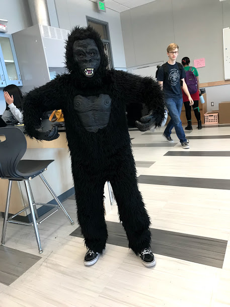 Junior class president Ashley Lising with that gorilla pose