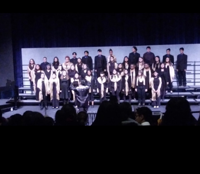 The PVHS choir singing