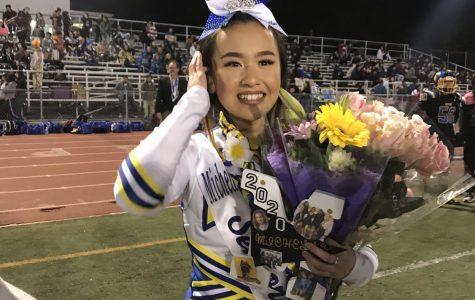 Pinole Valleys cheer captain, Michelle Hong