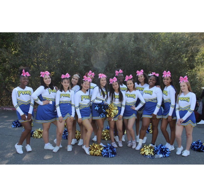 Pinole Valley High School's award-winning Cheer Squad inspires school spirit whereever they go.