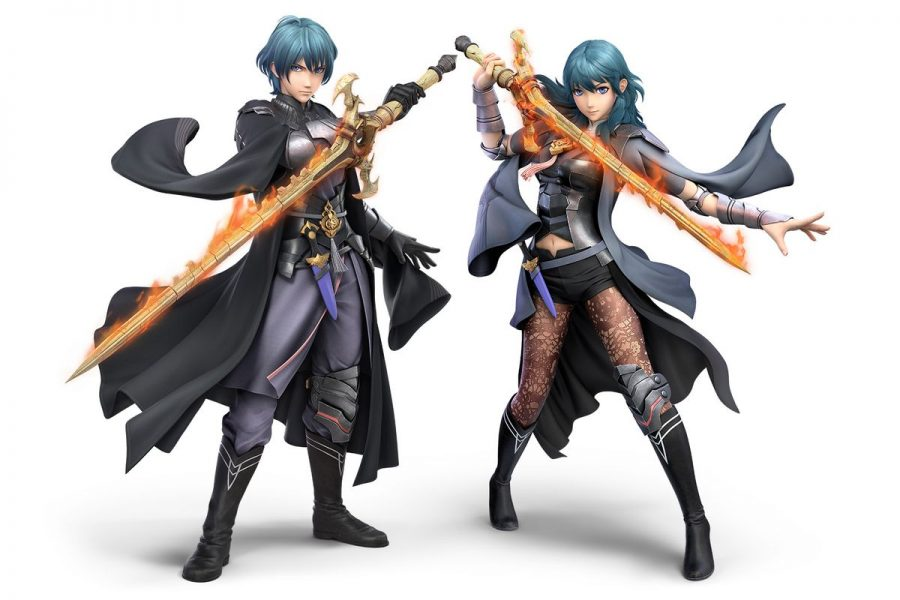 Byleth's official renders in Super Smash Bros. Ultimate.