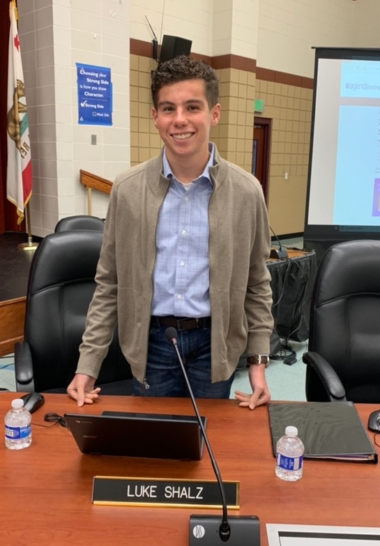 Luke Shalz, a junior at PVHS, is currently serving as the student member of the WCCUSD school board.