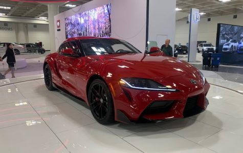 The new Toyota GR Supra, one of the many new cars exhibited at the SF Auto Show.