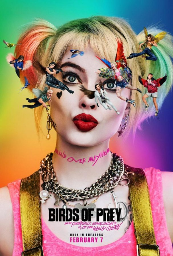 Harley Quinn on the cover of birds of prey