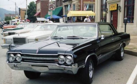 The 1965 Oldsmobile Cutlass F-85 coupe.