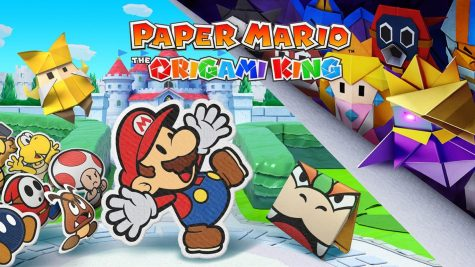 The box art for Paper Mario: The Origami King for Nintendo Switch.