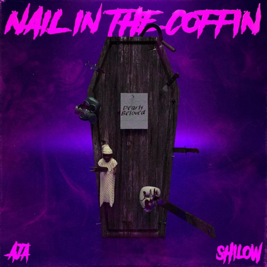 The cover of AJA and Shilow's joint extended play, 'Nail in the Coffin'.