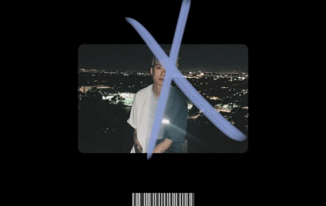 The cover of Amber Liu's debut English-language extended play, 'X'.