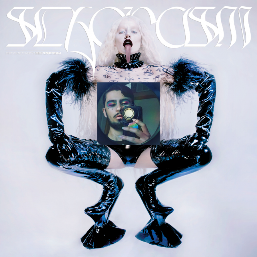 The cover of Brooke Candy's debut studio album, 'SEXORCISM', which appears censored for this publication.
