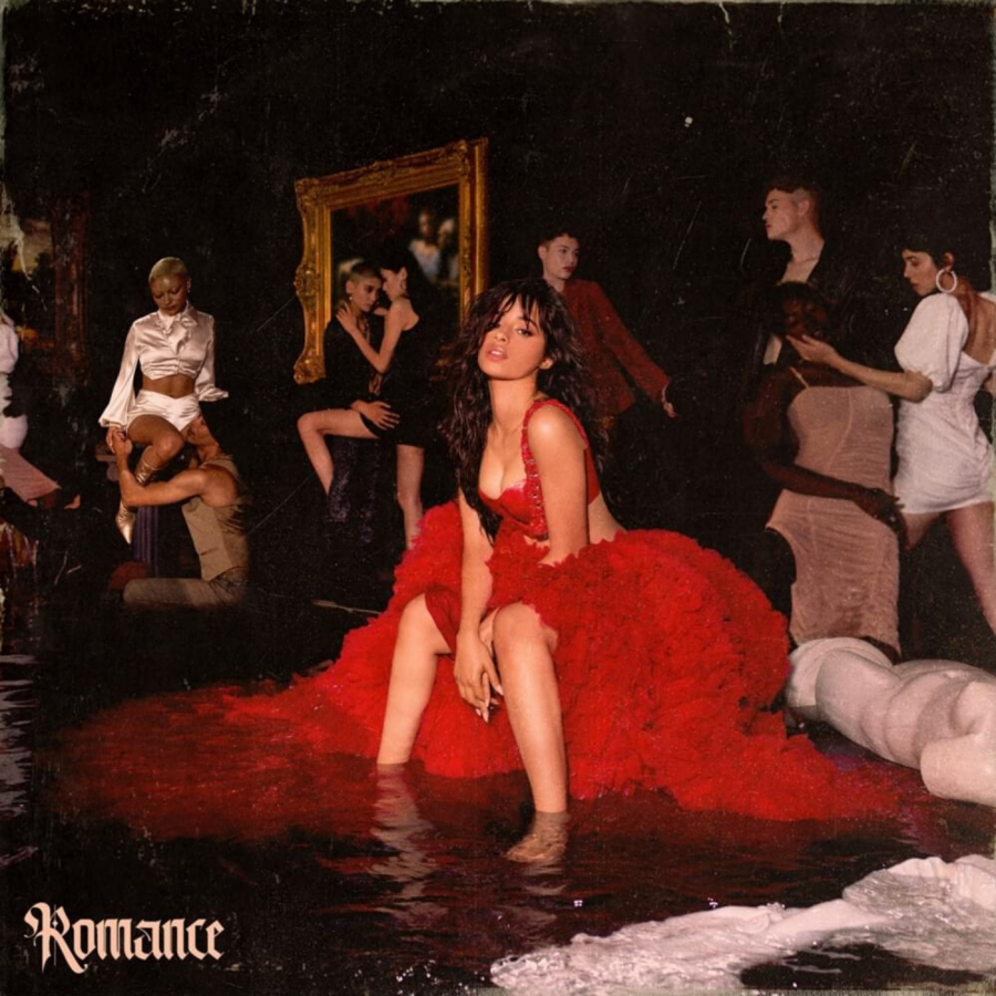 The cover of Camila Cabello's second studio album, 'Romance'.