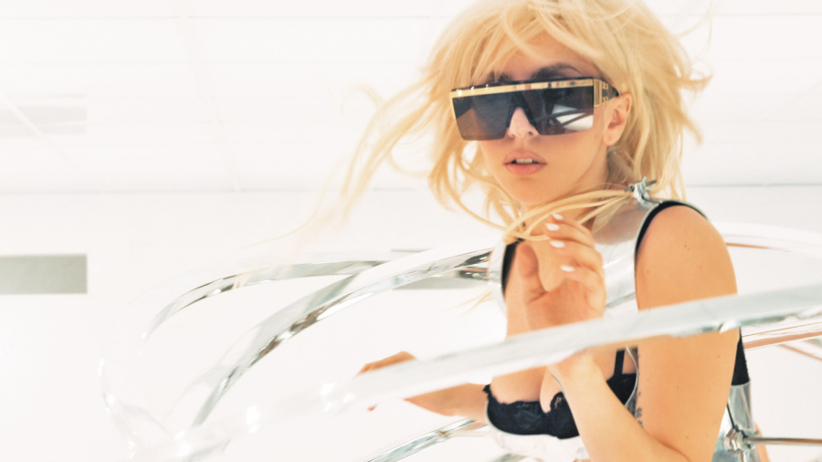 "Gaga in the music video for ""Bad Romance""."