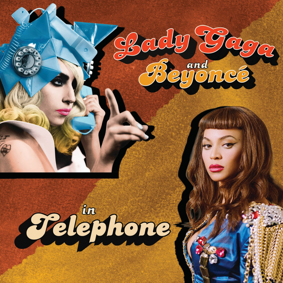 "The cover of the second single, ""Telephone""."