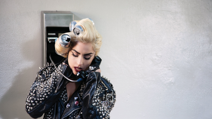 "Gaga in the music video for ""Telephone""."