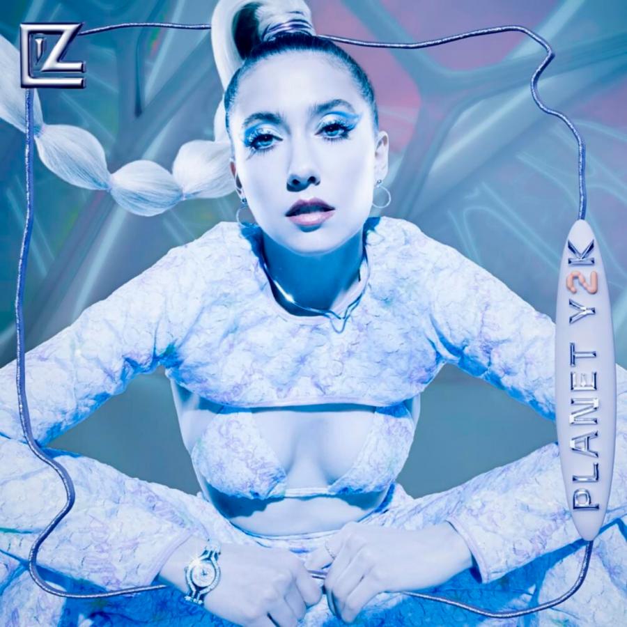 The digital edition cover of LIZ Y2K's debut studio album, 'Planet Y2K'.