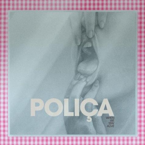 The cover of POLIÇA's fifth studio album, 'When We Stay Alive'.
