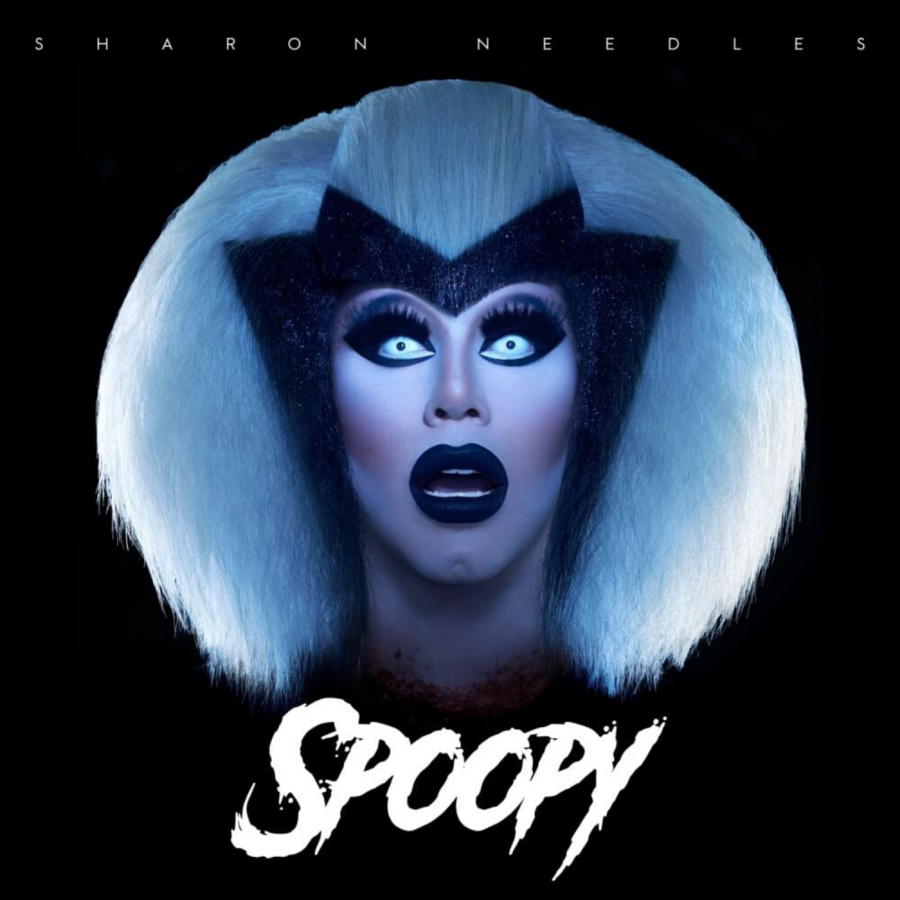 The cover of Sharon Needles' debut extended play, 'SPOOPY'.
