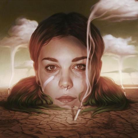 The cover of Mija's debut studio album, 'Desert Trash'.