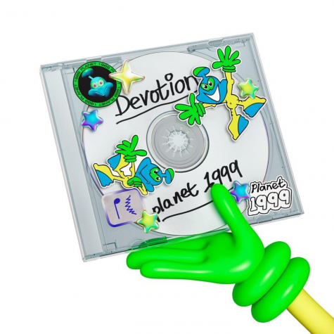 The cover of Planet 1999's debut extended play, 'Devotion'.