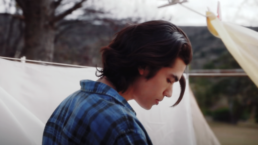 Gray in the music video for