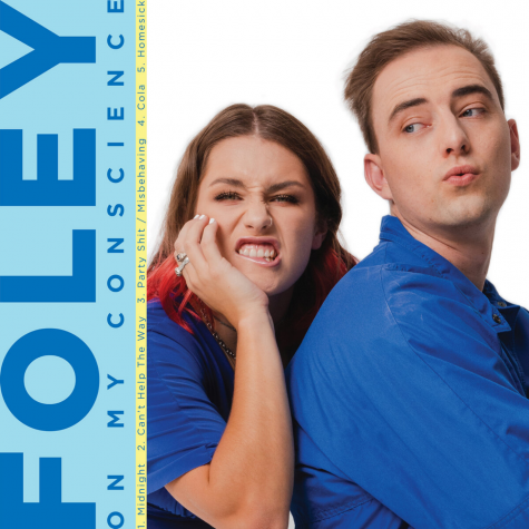 The cover of Foley's debut extended play, 'On My Conscience'.