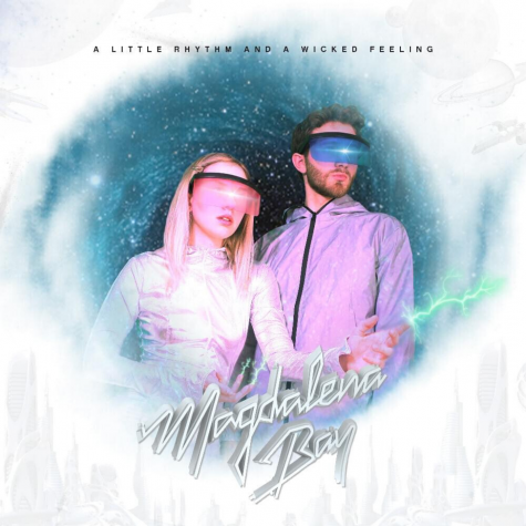 The cover of Magdalena Bay's debut extended play, 'A Little Rhythm and a Wicked Feeling'.
